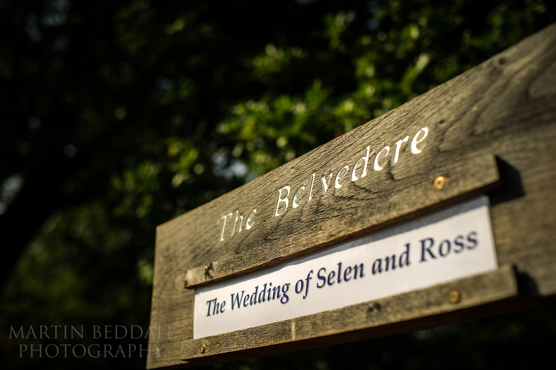 Pembroke Lodge wedding sign