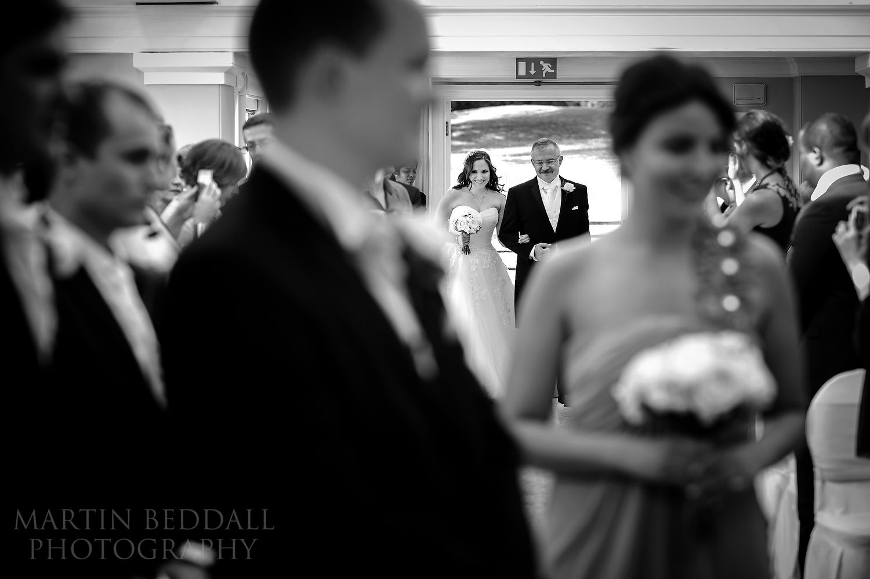 Start of wedding ceremony at Pembroke Lodge