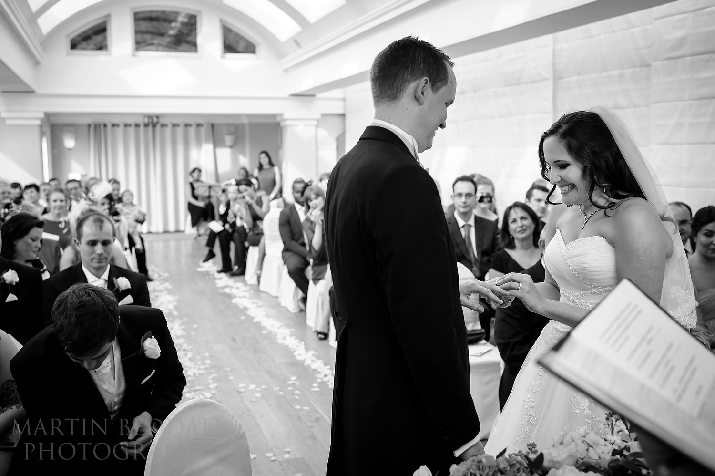 Wedding ceremony at The Belvedere