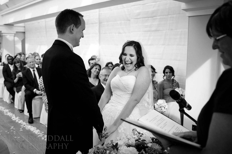 Happy bride at Pembroke Lodge