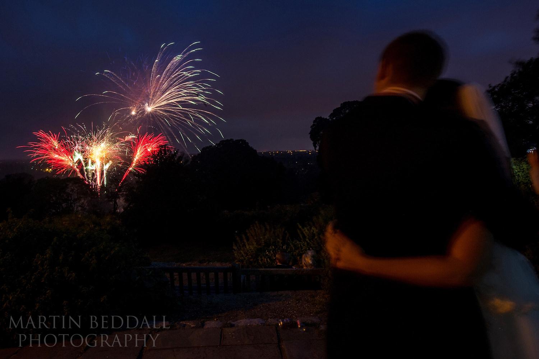 Evening fireworks at pembroke Lodge