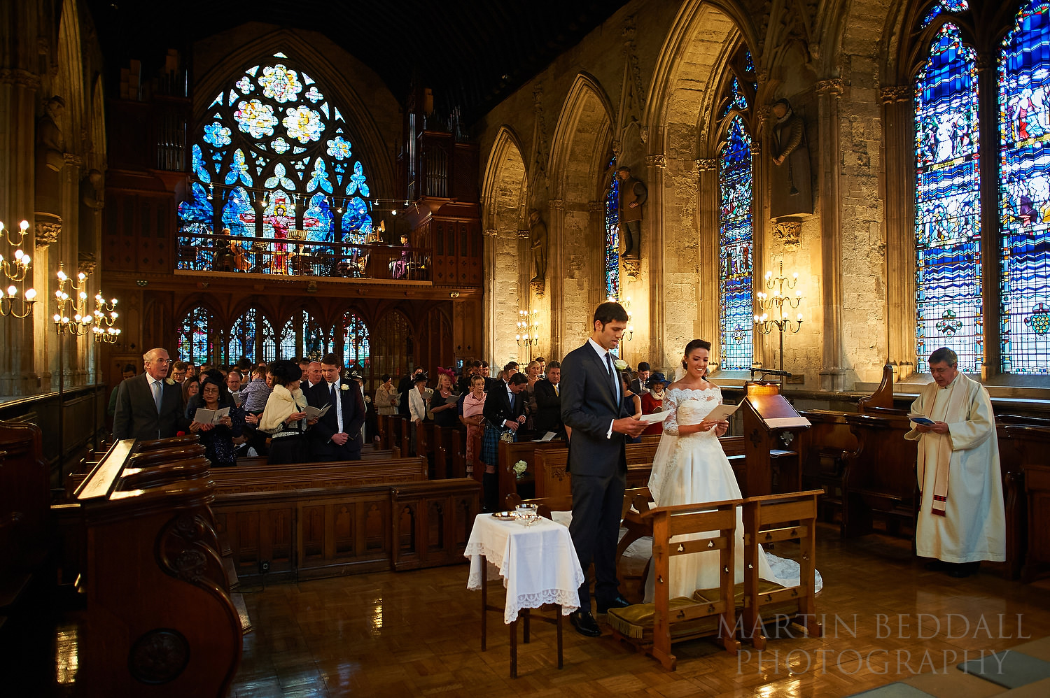 Wedding at St Etheldreda's church