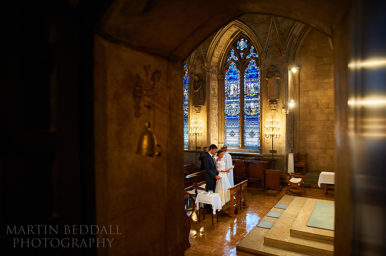 St Etheldreda's wedding ceremony in progress