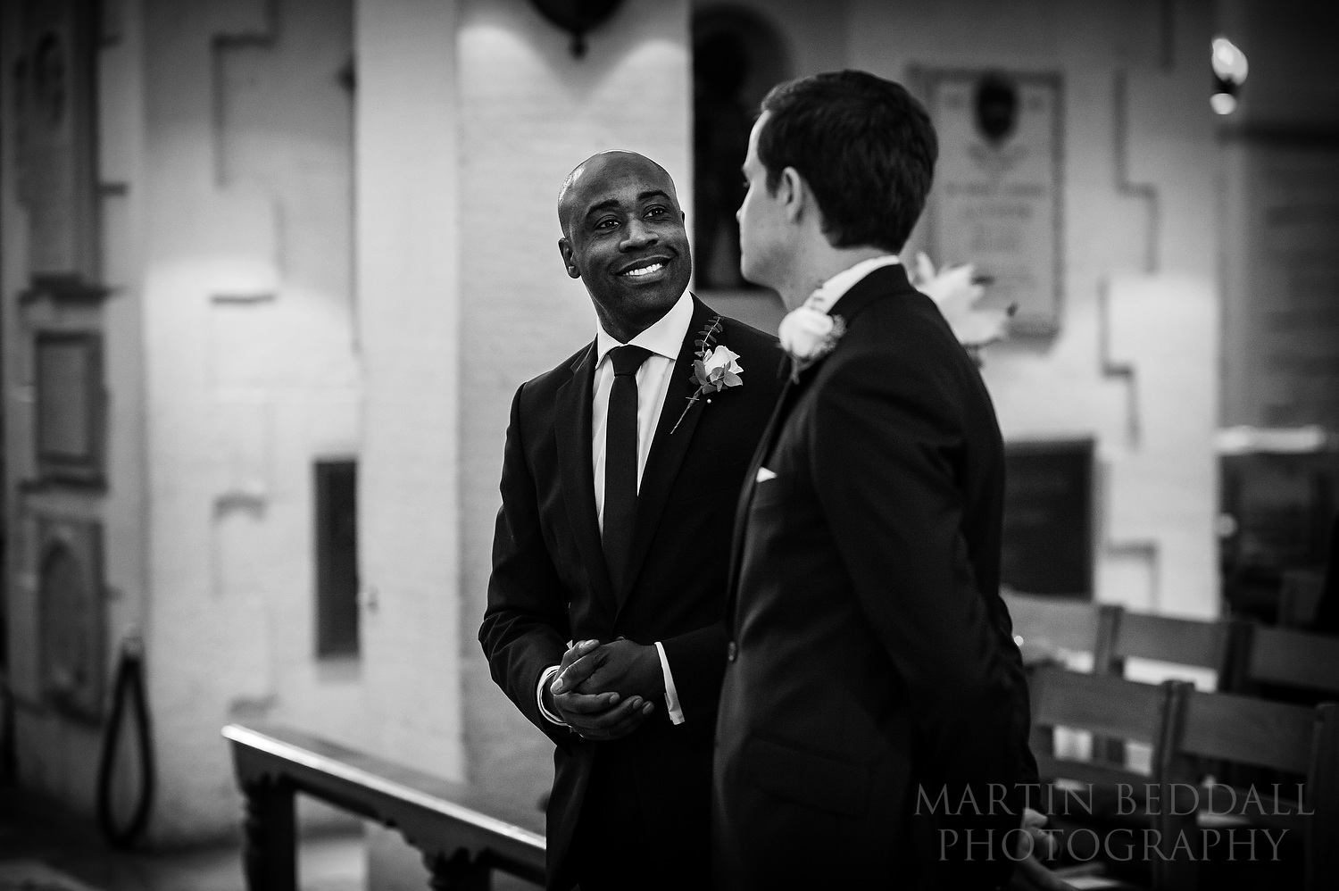 Best man and the groom in the OBE Chapel