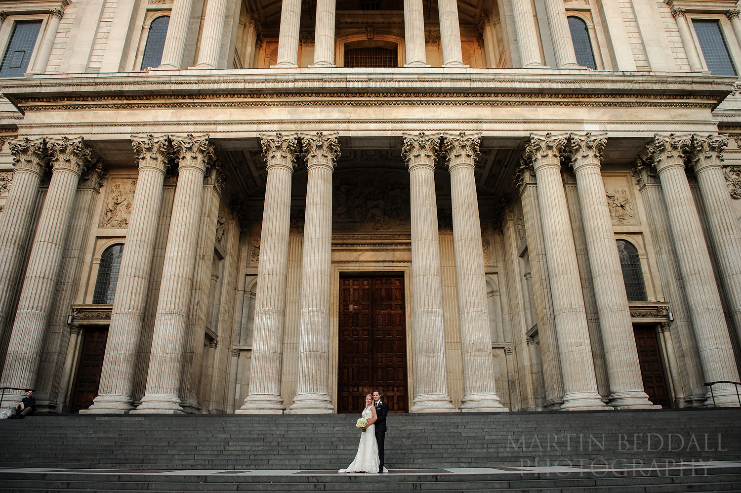 Evening portrait on St Paul's Cathedral steps, once the tourists had left