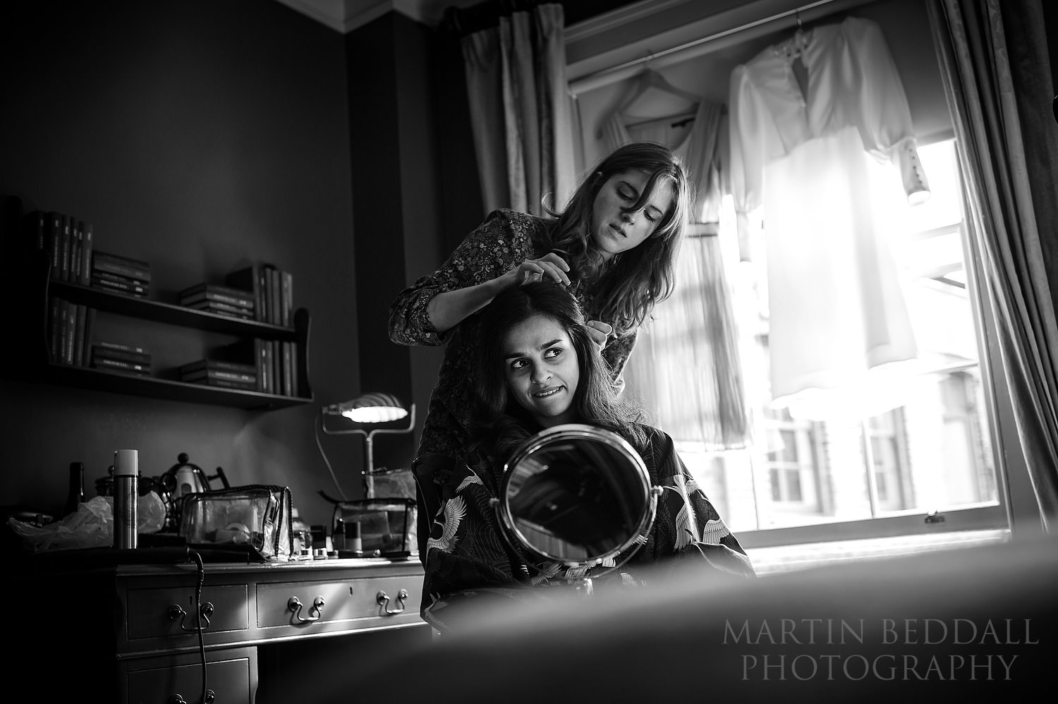 Bride getting ready at the Zwetter Townhouse