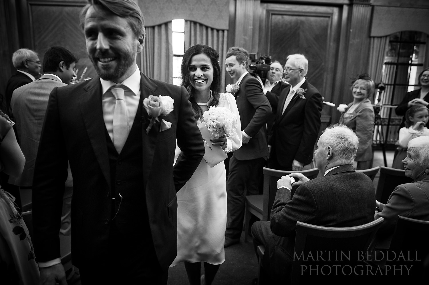 Leaving the ceremony room