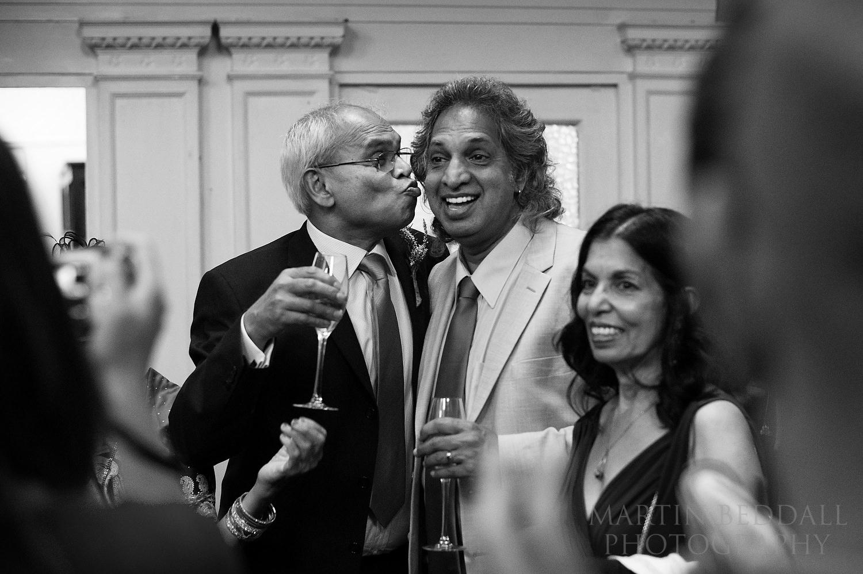 a kiss - 20th Century Theatre wedding reception