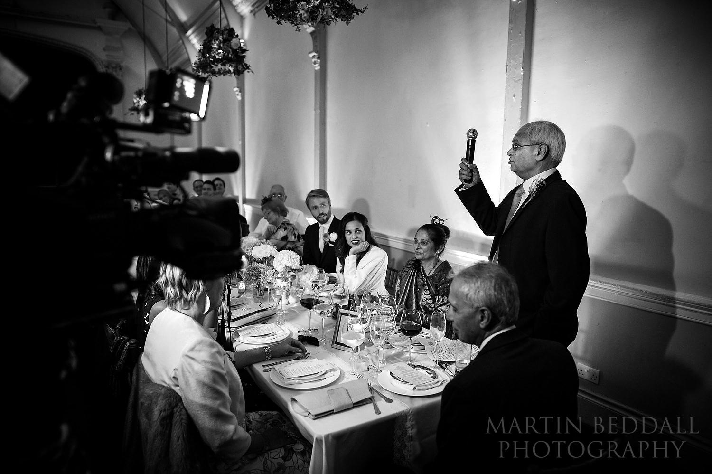 20th Century Theatre wedding reception wedding speeches