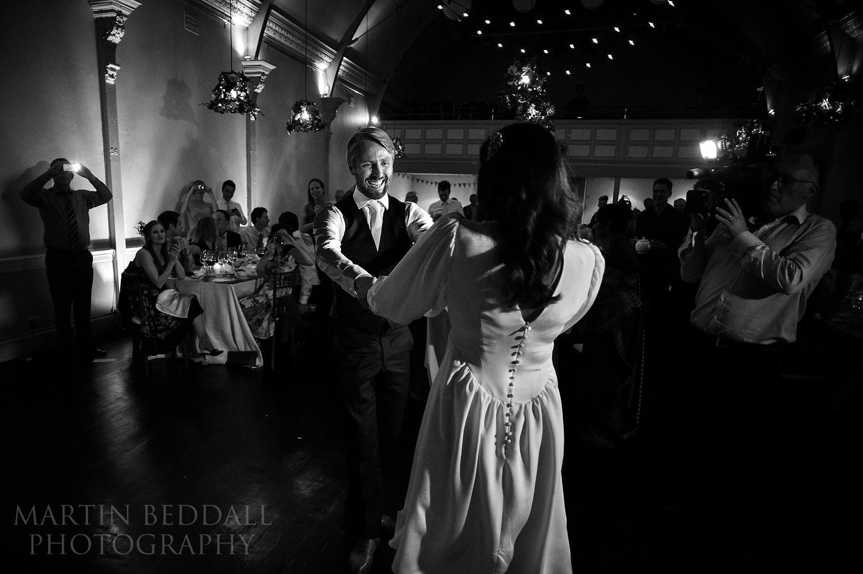 20th Century Theatre wedding reception first dance