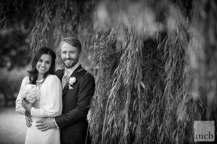 Bride and grrom portrait in Regents Park
