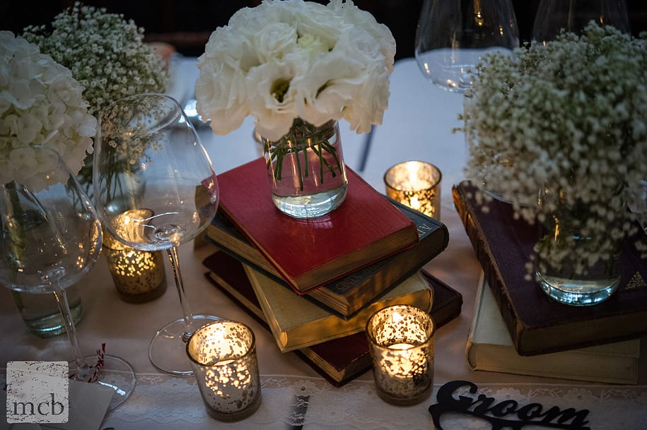 Vintage wedding theme for table details