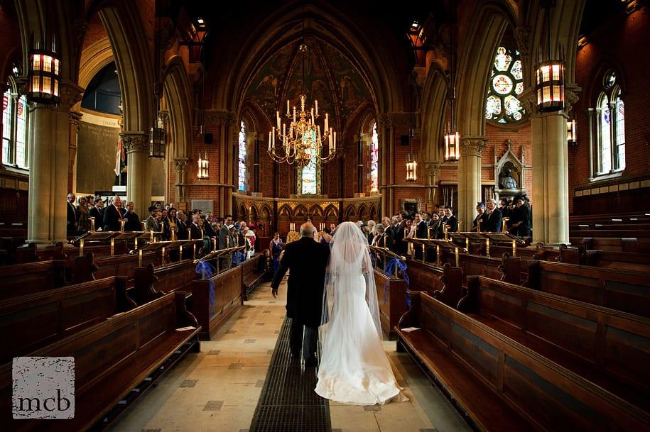Wellington college wedding in the school chapel