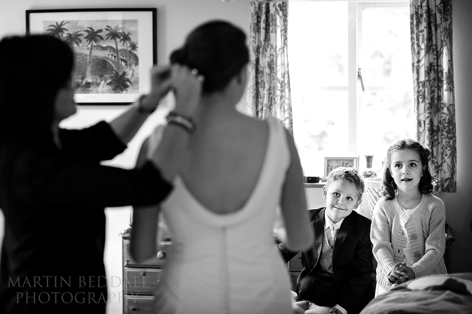 Watching the bride get ready