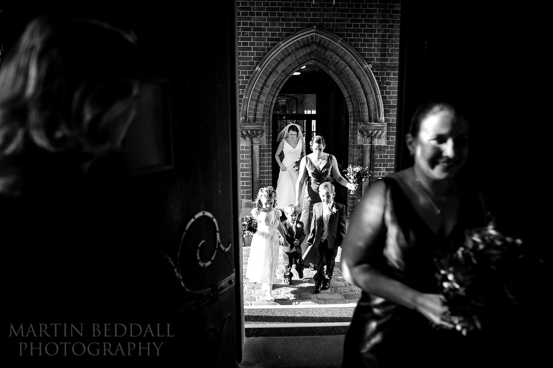 Walking across to Wellington College chapel