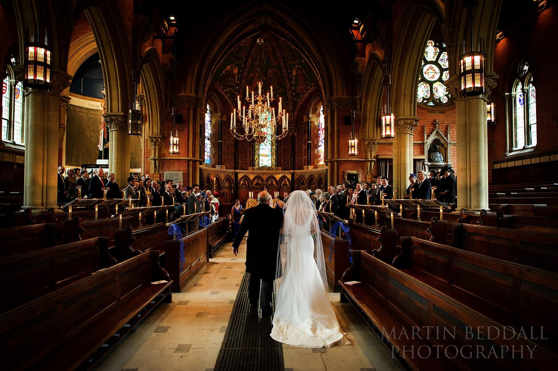 Start of Wellington College wedding ceremony