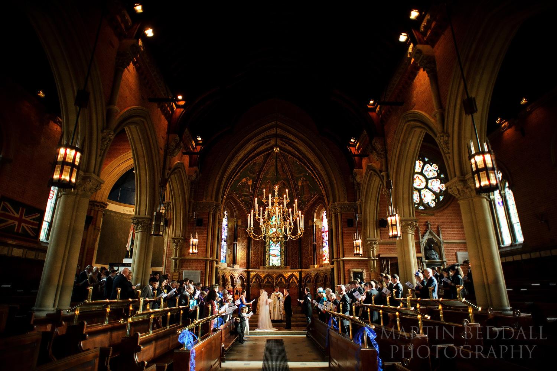 Wellington College wedding ceremony in the chapel