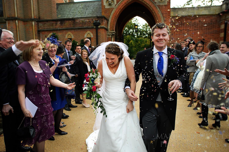 Wellington College wedding confetti