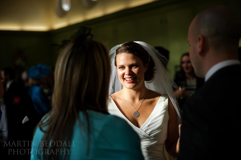 October sunlight on the bride