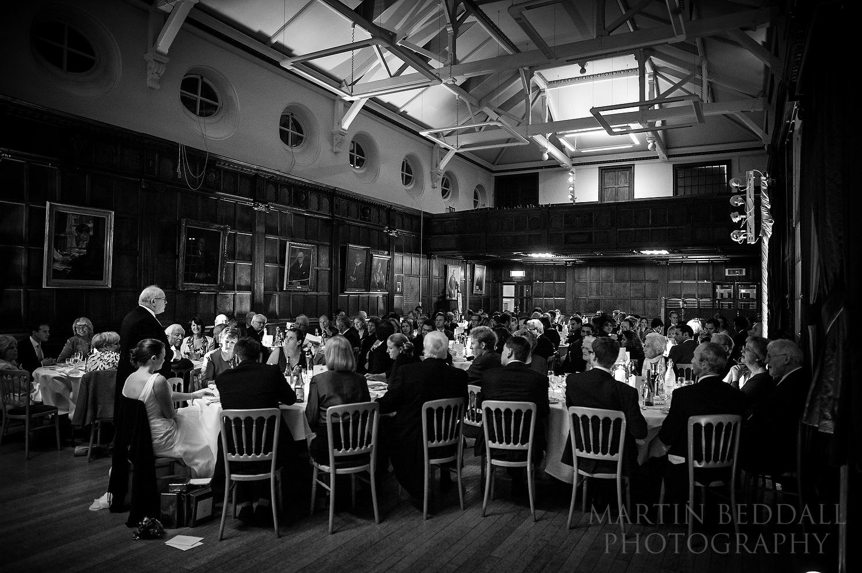 Wellington College wedding speeches