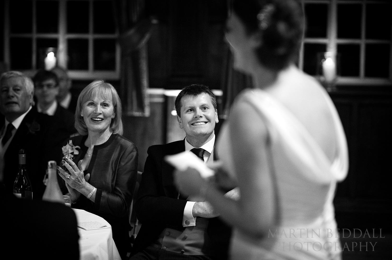 Bride's speech at Wellington College wedding