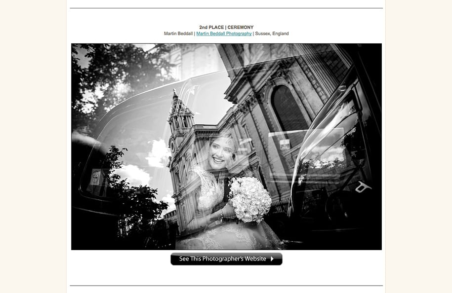 award-winning reportage wedding photography by Martin Beddall in international competition