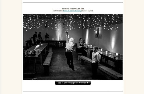 Wedding photography award for wedding reportage