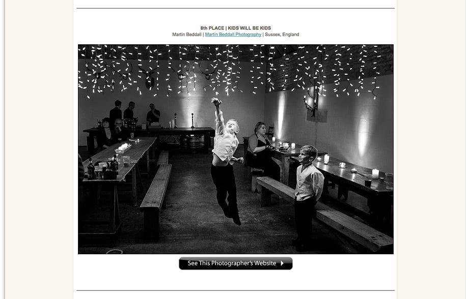 reportage wedding photography award