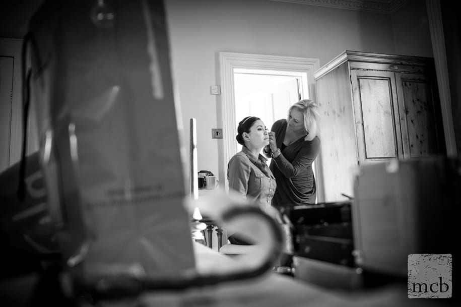 wedding reportage photography of bridal preparations