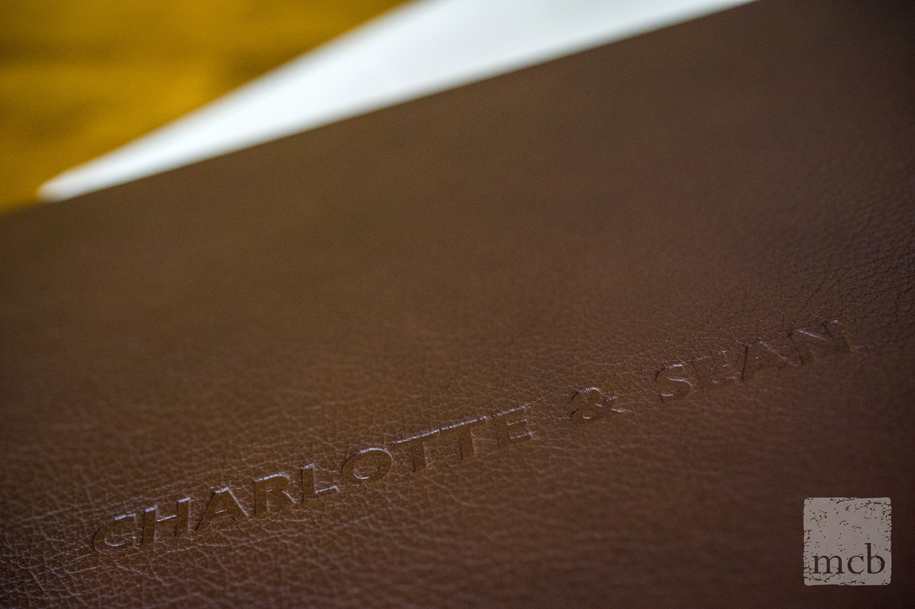 Luxury fine art leather wedding album