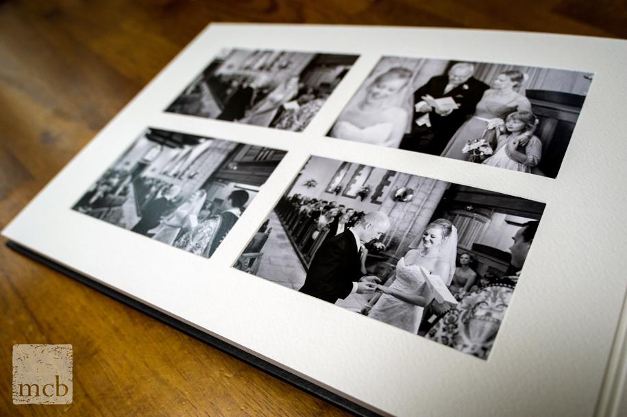 classic wedding album layout