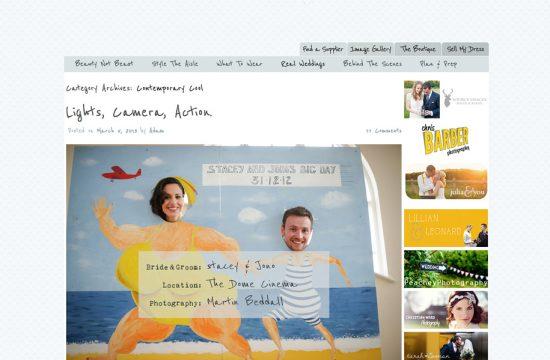 Rock My wedding blog featires Martin Beddall's documentary wedding photography