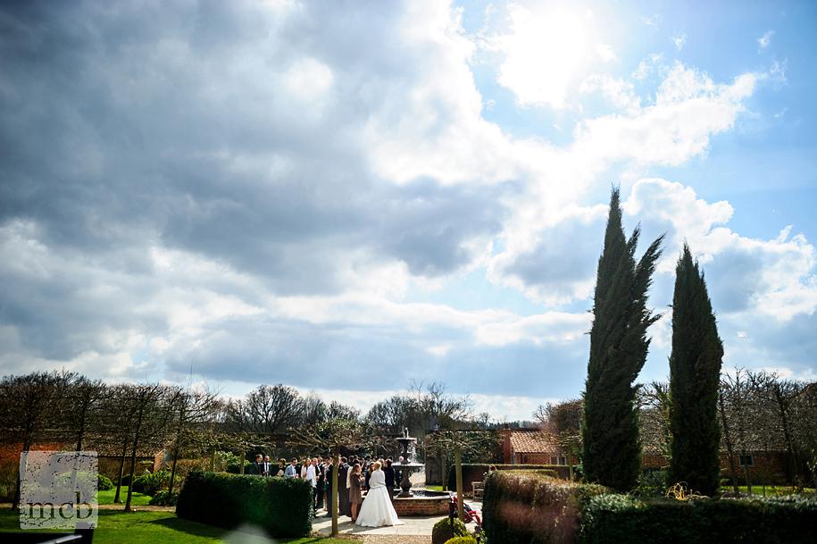 Braxted Park walled garden wedding reception