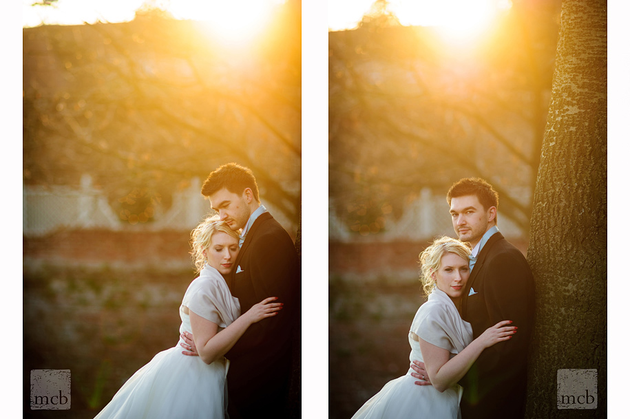Bride and groom portrait at Braxted Park