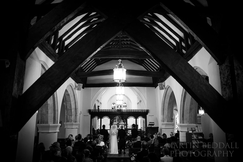 wedding ceremony at Newdigate church