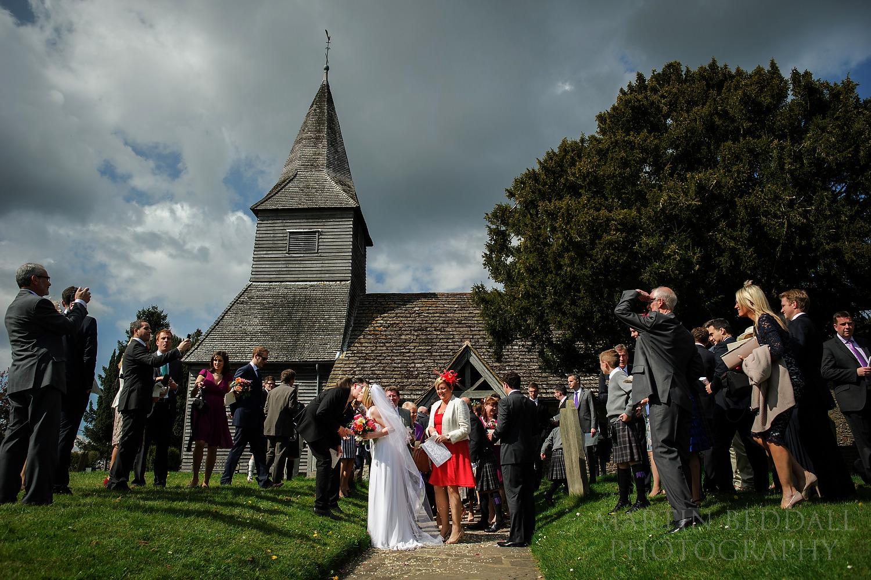 Wedding at Newdigate church in Surrey