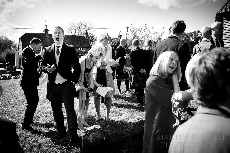 Surrey reportage at wedding