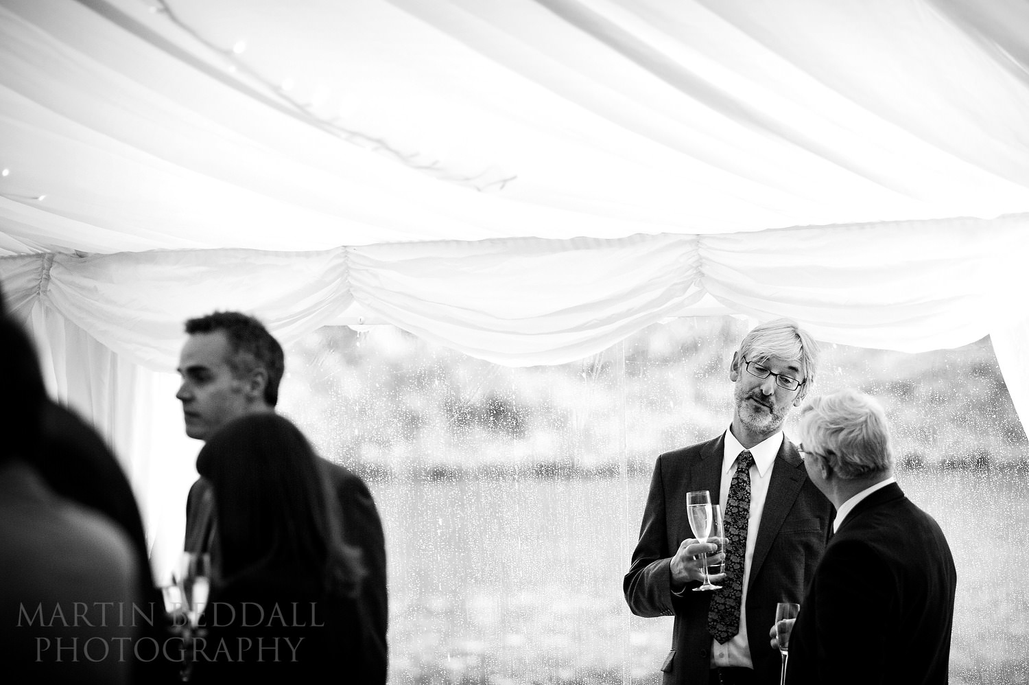 Marquee reception at Coverwood Farm