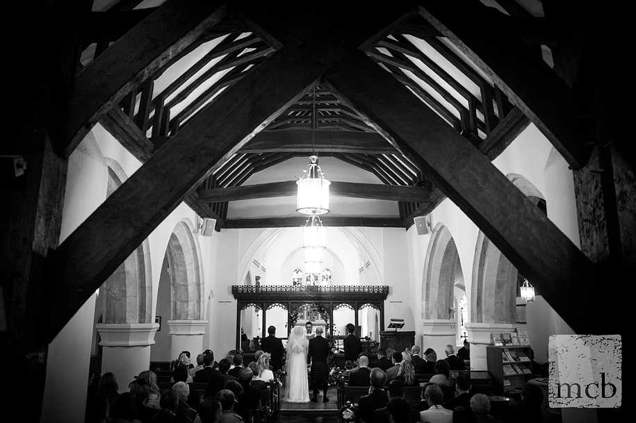Wedding ceremony at St Peters in Newdigate