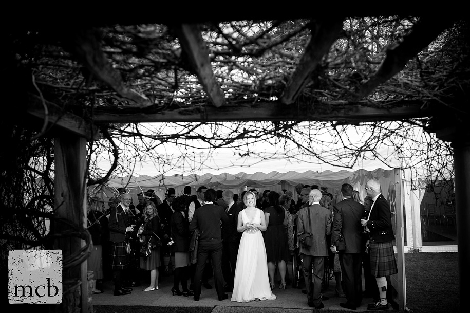 Marque in the rain at Coverwood Farm wedding