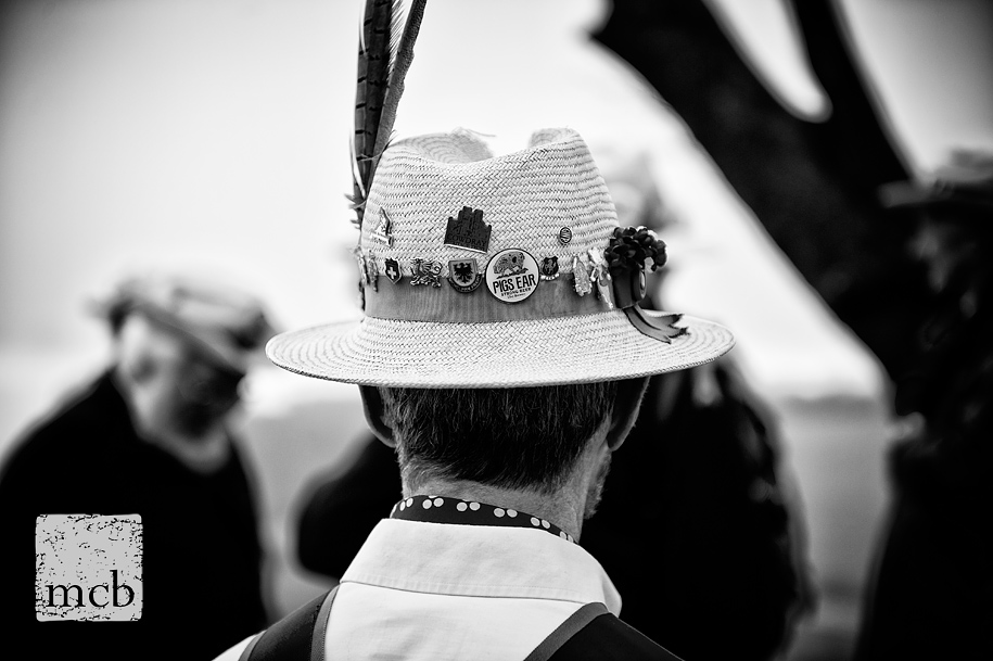 Morris dancers hat with badges