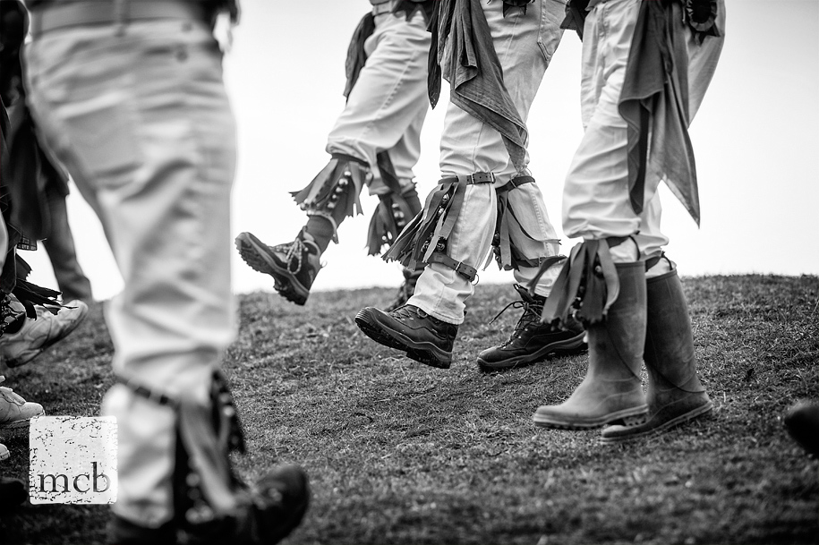 Bells on the legs of morris men