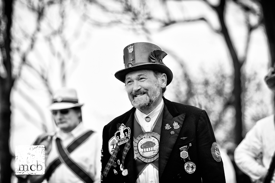 Morris dancer smiling