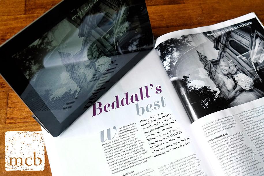 Magazine interview with wedding photographer Martin Beddall