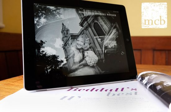 ipad profile of wedding photojournalist Martin Beddall
