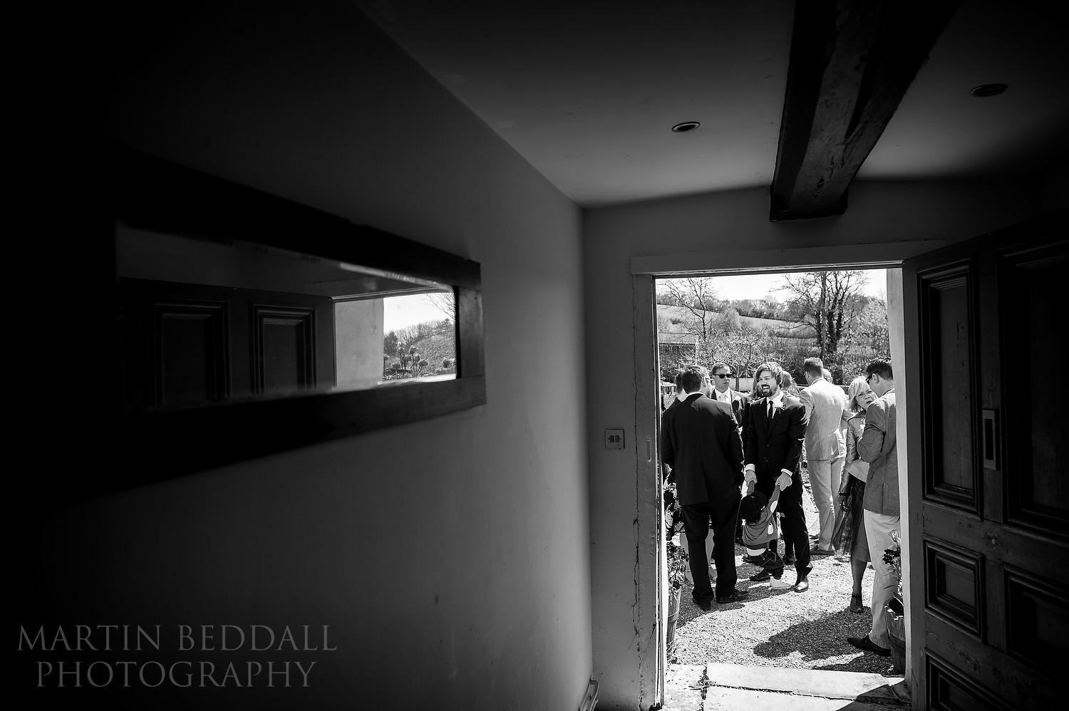 Pre-ceremony at River Cottage wedding