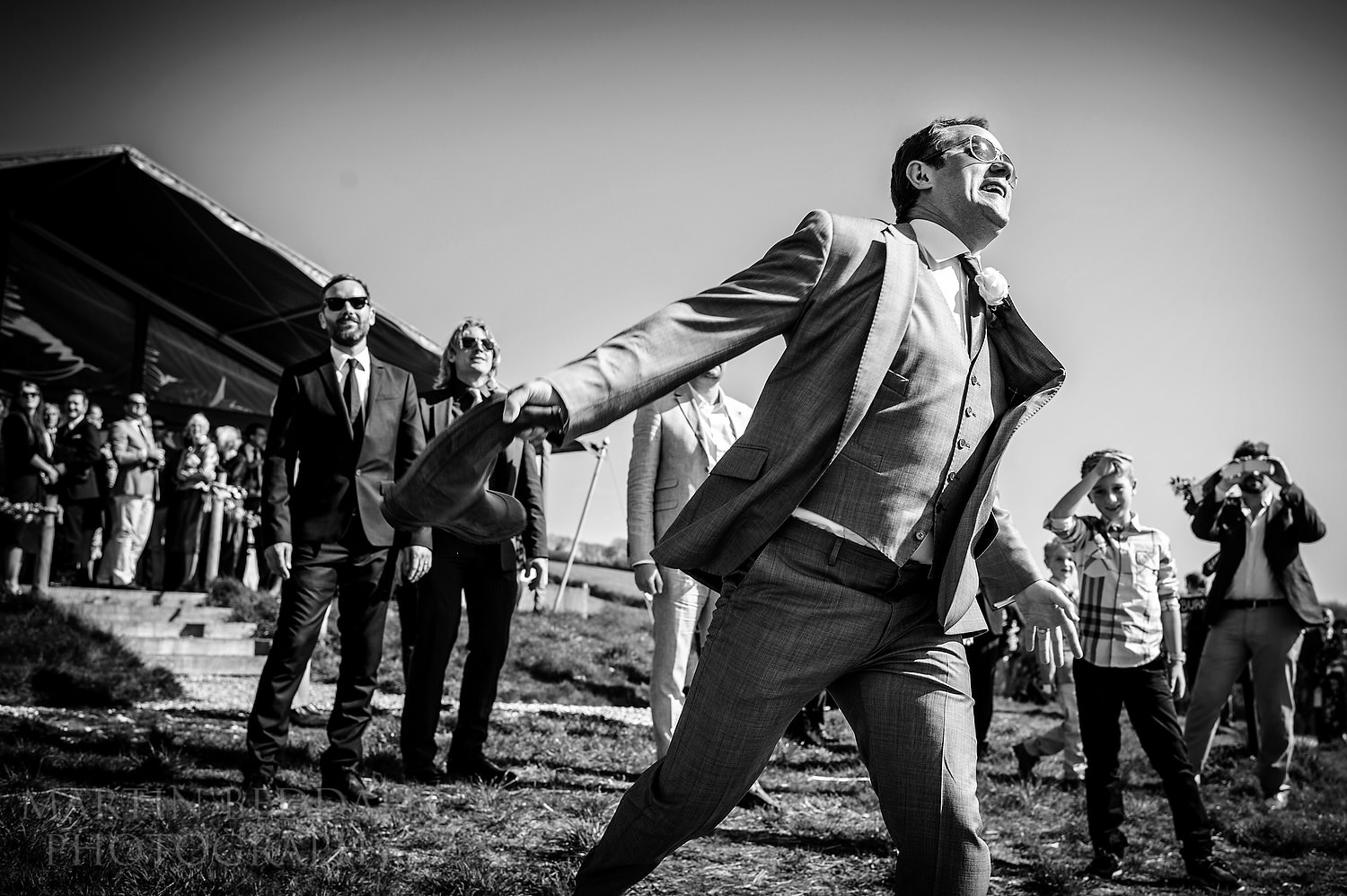 Wellington boot throwing at River Cottage wedding reception