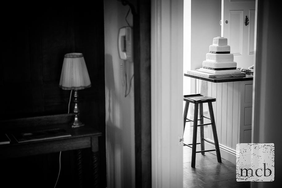 Wedding cake in the kitchen