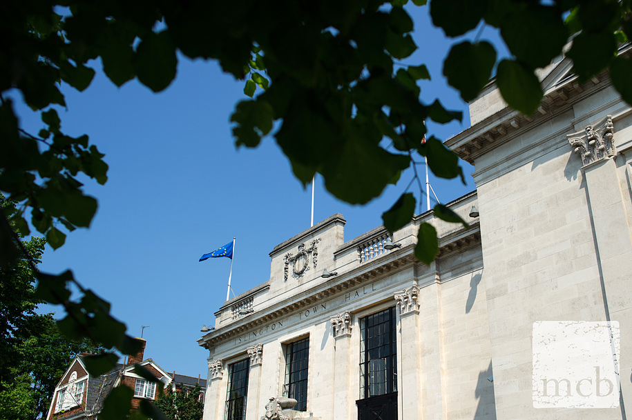 Front of Islington town hall