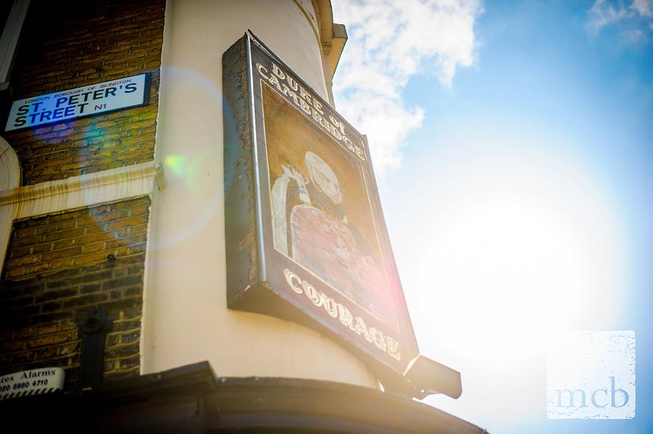Islington's Duke of Cambridge pub